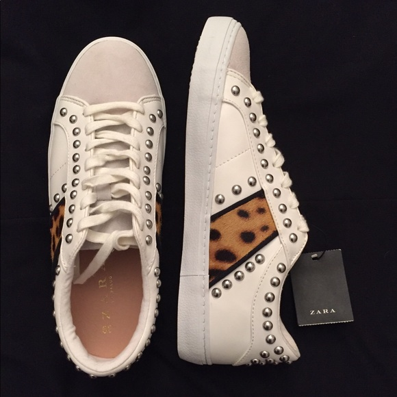 Zara Studded Cheetah Sneakers